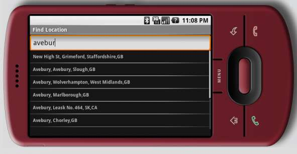 Android: Place Finder & Command Processor : netthreads